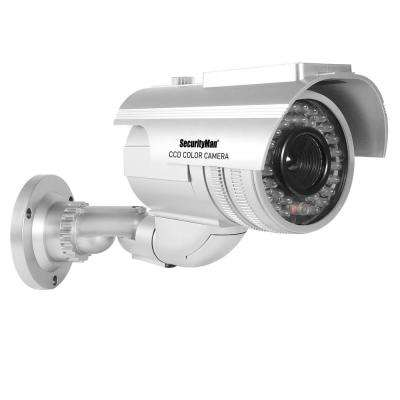 Robust Solar Powered Outdoor/Indoor Dummy Camera with Flashing LED