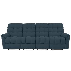ProLounger 4-Seat Tufted Recliner Sofa in Caribbean Blue ...