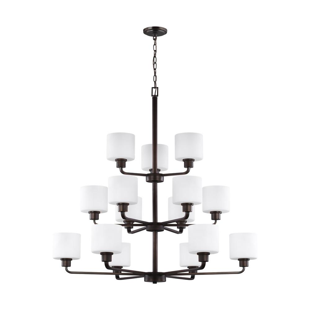 Canfield 15-Light Burnt Sienna Chandelier
