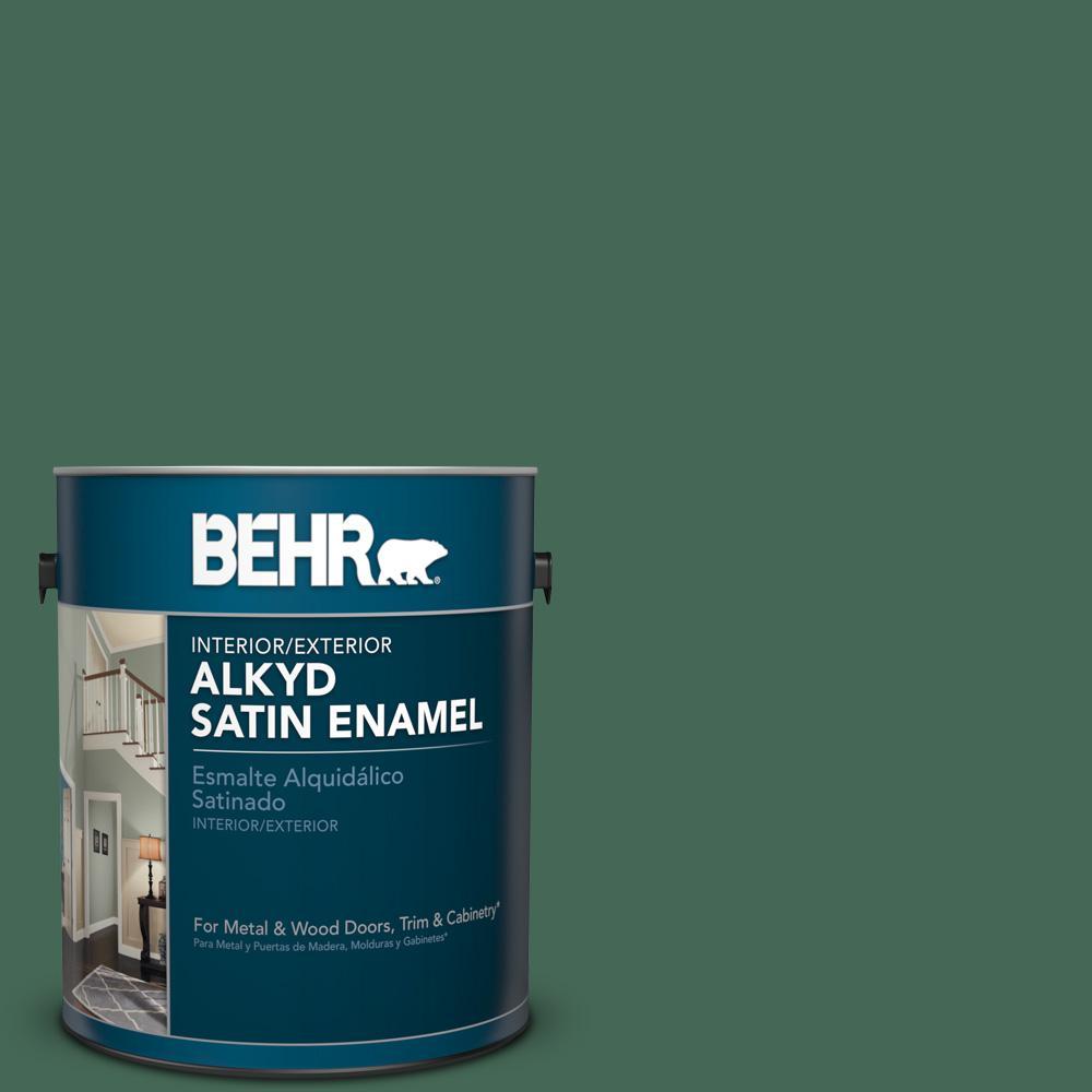 1 gal. #M420-7 Billiard Green Satin Enamel Alkyd Interior/Exterior Paint