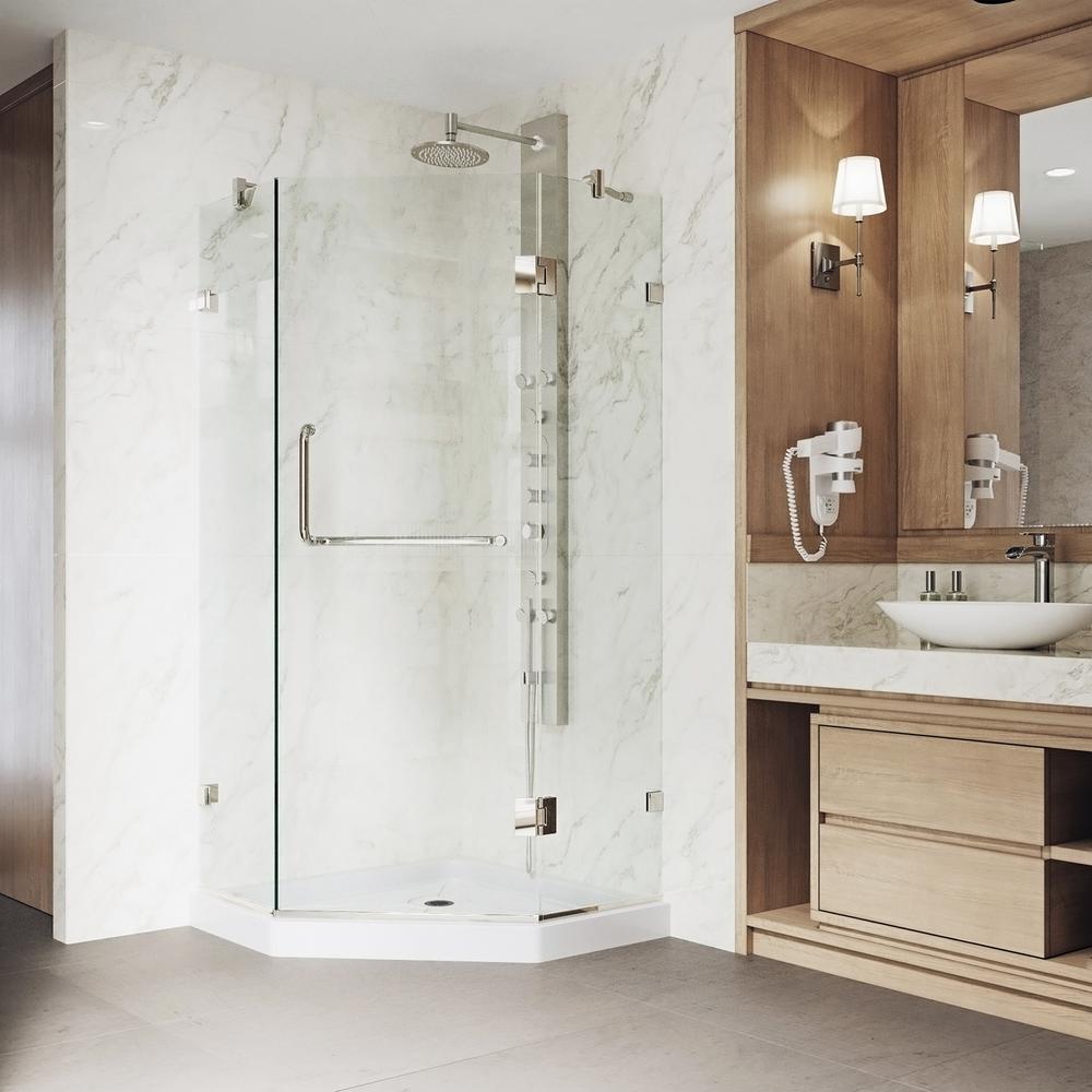 Vigo Piedmont 36125 In X 7675 In Frameless Neo Angle Shower Door