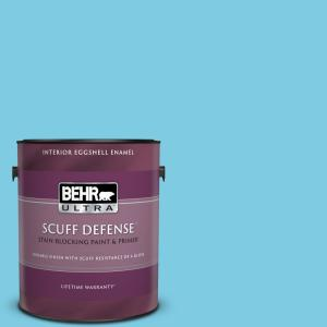 Behr Ultra 1 Gal P490 3 Big Chill Extra Durable Eggshell Enamel Interior Paint Primer 275001 The Home Depot
