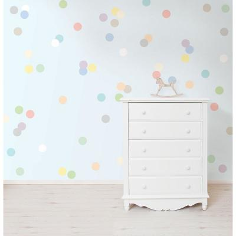 Pastel Confetti MiniPops Wall Decals