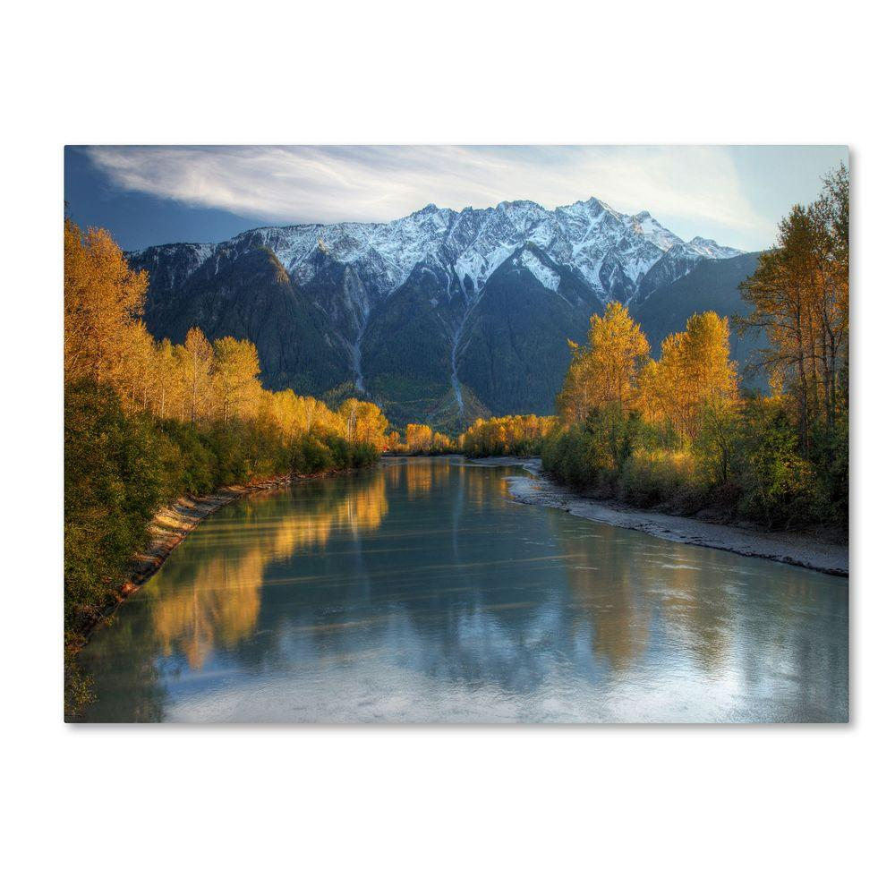 30 in. x 47 in. Autumn River Canvas Art