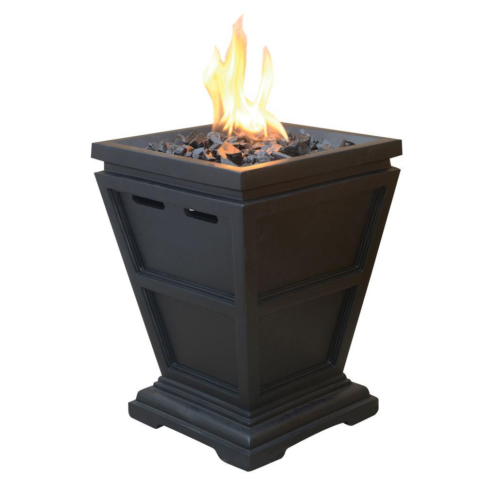 Attirant UniFlame Tabletop 10.5 In. X 10.5 In. Propane Gas Fire Pit