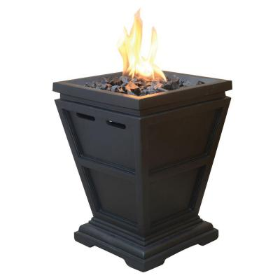 11 in. W x 11 in. D Tabletop LP Gas Fire Pit with Electronic Ignition and Lava Rocks