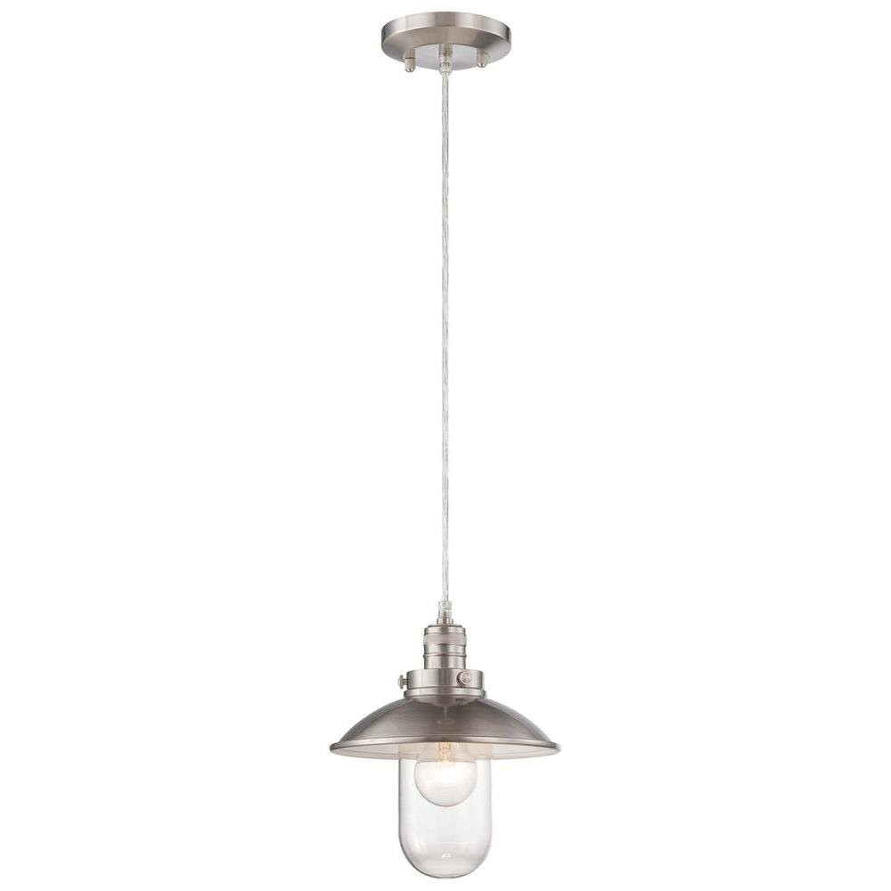 Minka Lavery Downtown Edison Brushed Nickel Mini Pendant