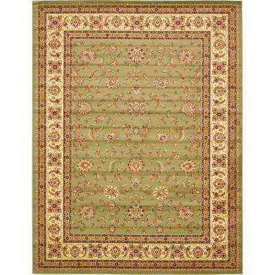 Agra Green 10 ft. x 13 ft. Area Rug