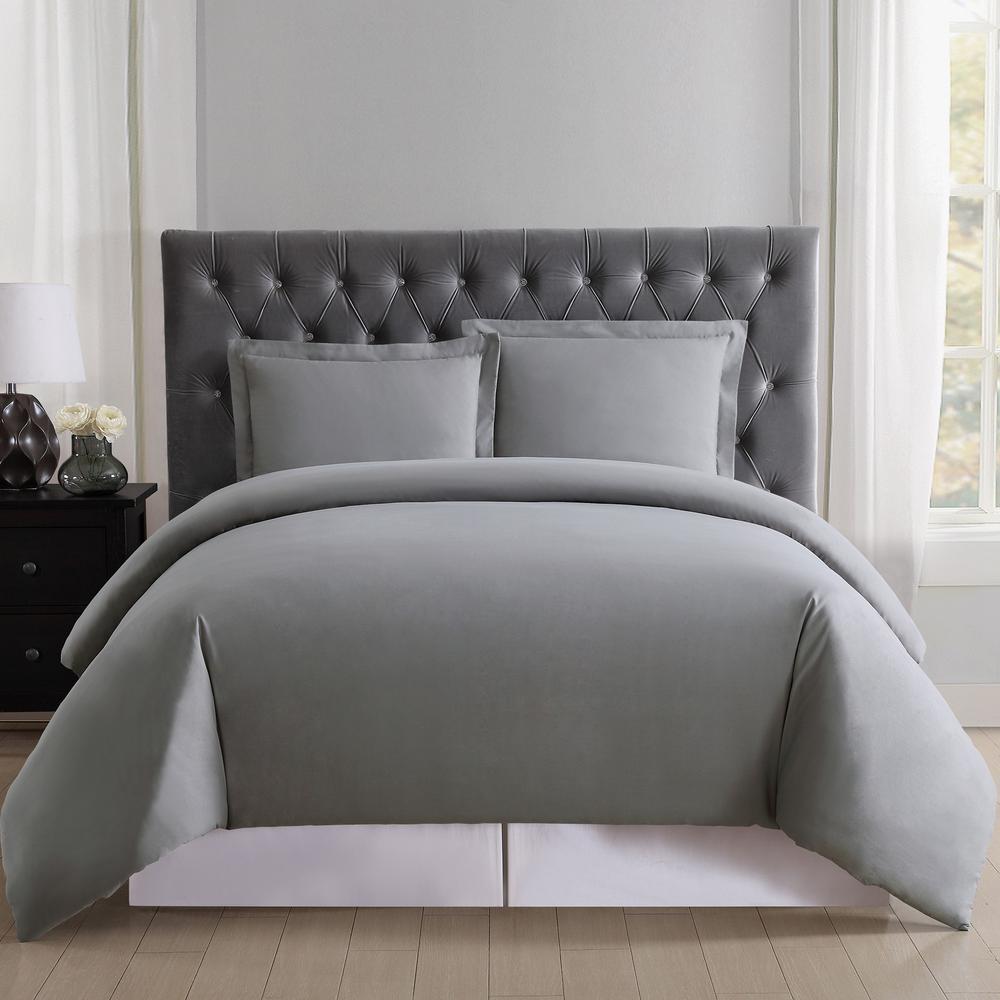 Everyday Grey Twin XL Duvet Set