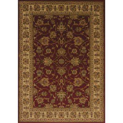 Affinity Reza Red 5 ft. 3 in. x 7 ft. 2 in. Area Rug