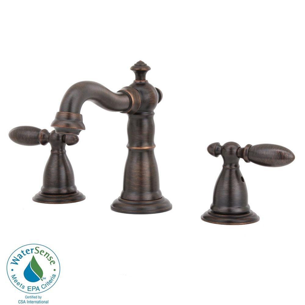 Delta Victorian 8 in. Widespread 2-Handle High-Arc Bathroom Faucet in Venetian Bronze