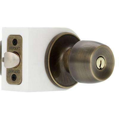 Brandywine Antique Brass Keyed Entry Door Knob Set