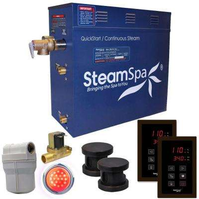 Royal 12kW QuickStart Steam Bath Generator Package with Built-In Auto Drain in Polished Oil Rubbed Bronze
