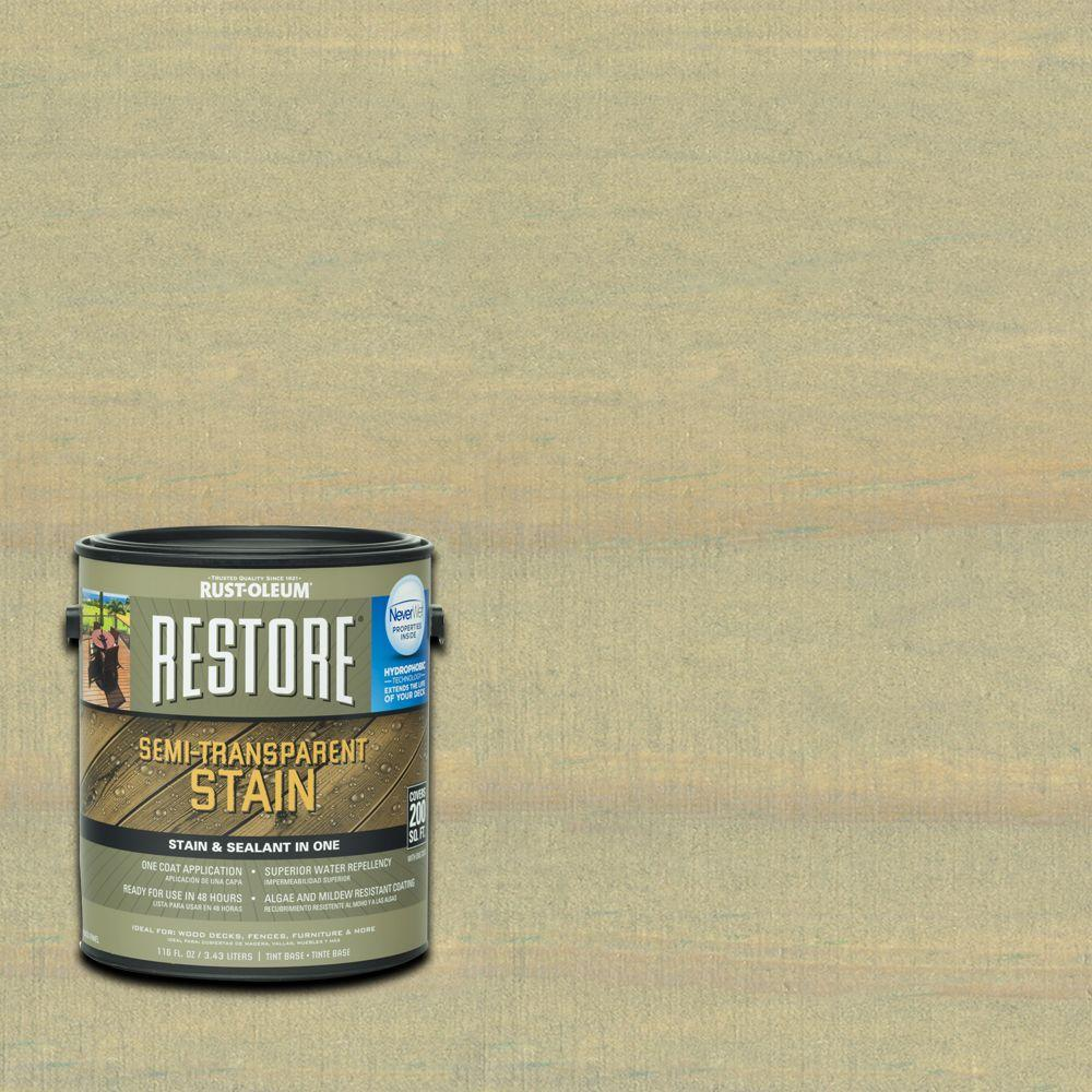 Rust-Oleum Restore 1 gal. Semi-Transparent Stain Driftwood with NeverWet
