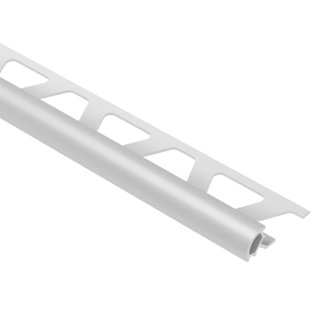 Schluter Rondec Classic Grey 5/16 in. x 8 ft. 2-1/2 in. PVC Bullnose Tile Edging Trim