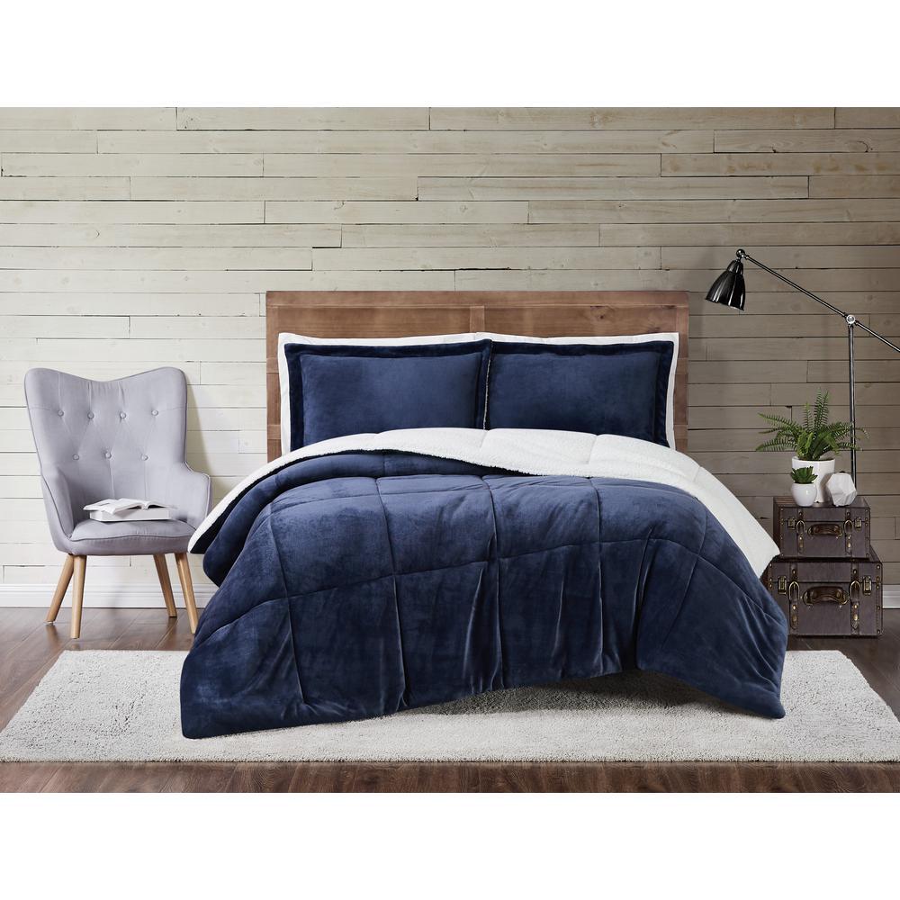 Truly Soft Cuddle Warmth Indigo Twin Xl Comforter Set Cs3142intx