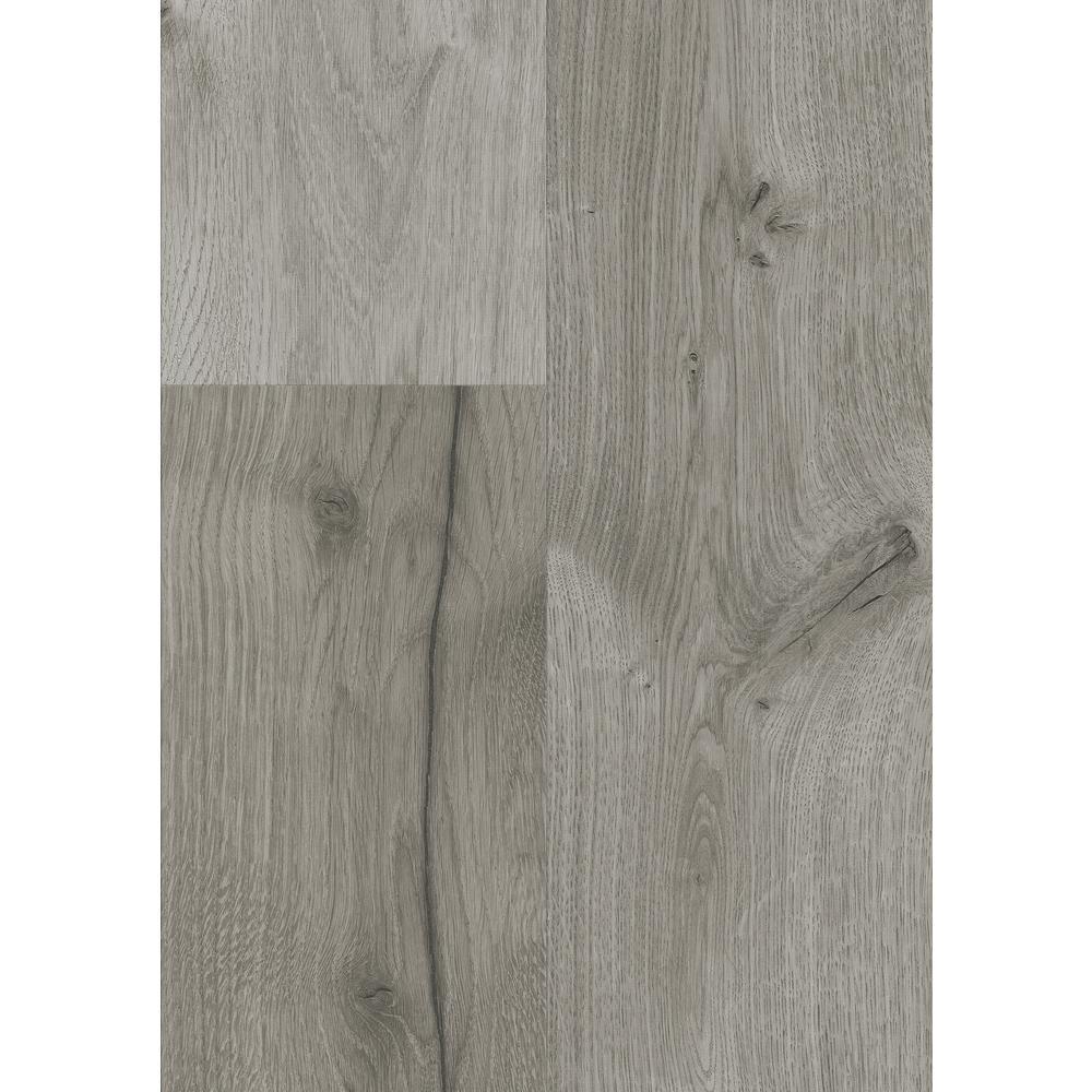 Take Home Sample - Castle Gray Oak Laminate Flooring - 5 in. x 7 in.