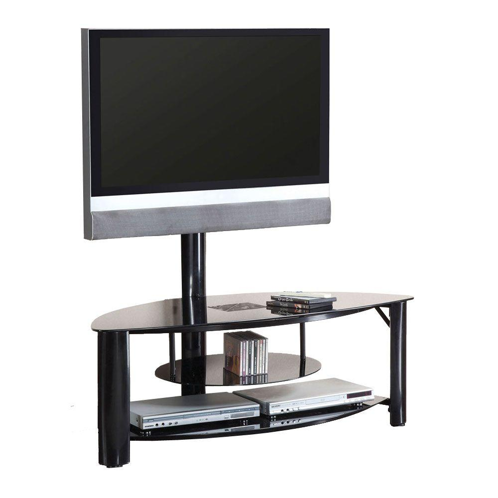 Fendy Black Shelved Entertainment Center