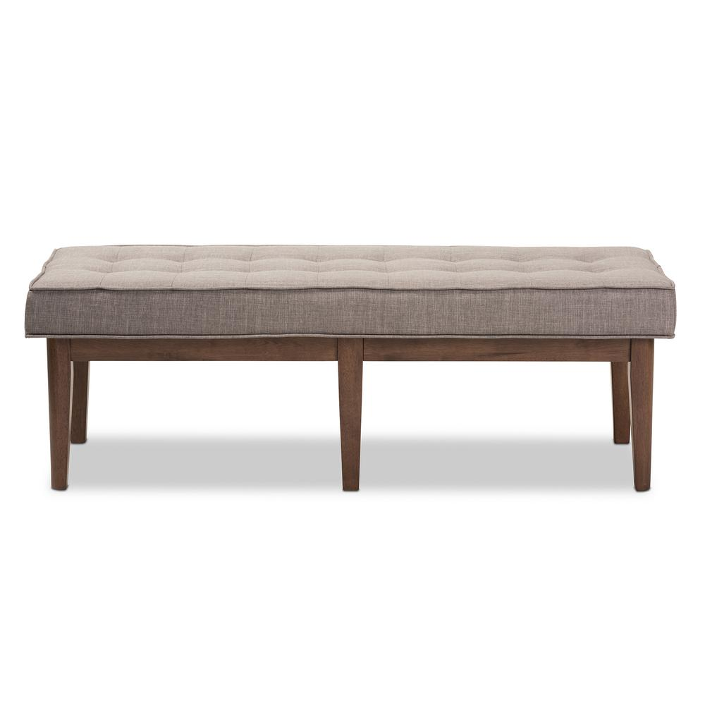 Lucca Light Gray Bench