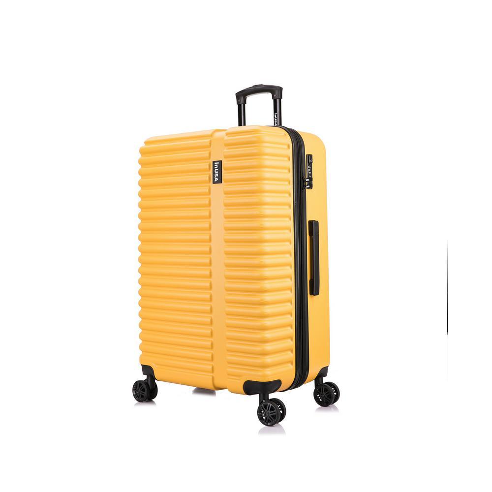 Ally 31 in. Mustard Lightweight Hardside Spinner Suitcase