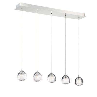 Lucido 5-Light Chrome Chandelier