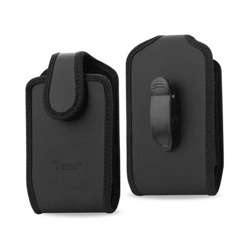 REIKO Small Vertical Leather Holster in Black