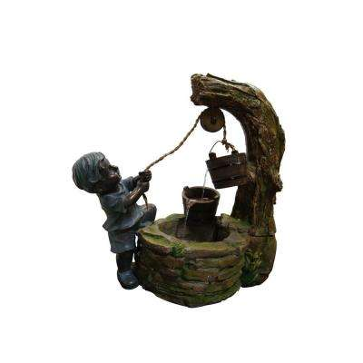 Polyresin Boy Fetching Water Fountain