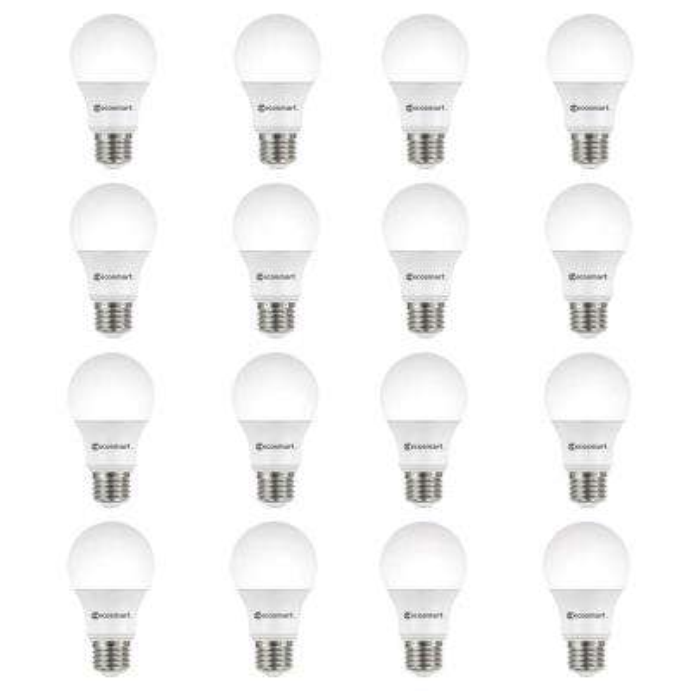 40-Watt Equivalent A19 Dimmable ENERGY STAR LED Light Bulb, Bright White (16-Pack)
