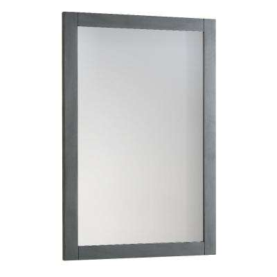Bradford Regal 20 in. W x 30 in. H Framed Wall Mirror in Gray
