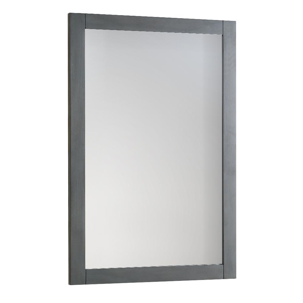 Bradford Regal 20 in. W x 30 in. H Framed Wall Mirror in Gray
