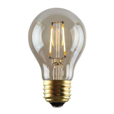 2W Equivalent 2,200K A19 Dimmable LED Filament Light Bulb