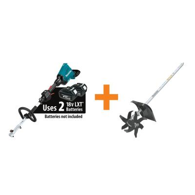 18-Volt X2 (36V) LXT Lithium-Ion Brushless Cordless Couple Shaft Power Head (Tool Only) and Cultivator Attachment