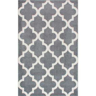 Ivy Moroccan Trellis Gray 9 Ft X 12 Area Rug