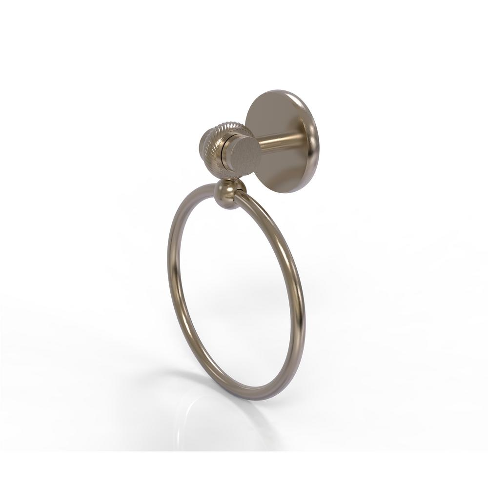 Allied Brass Satellite Orbit Two Collection Towel Ring with Twist Accent in Antique Pewter