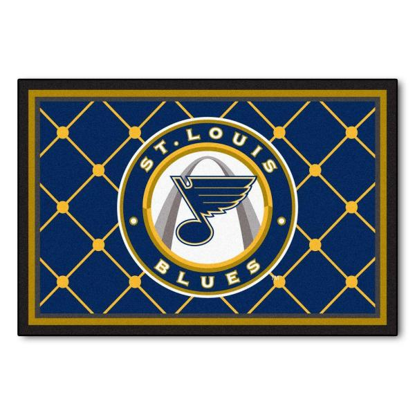 NHL St. Louis Blues Blue 5 ft. x 8 ft. Indoor Area Rug