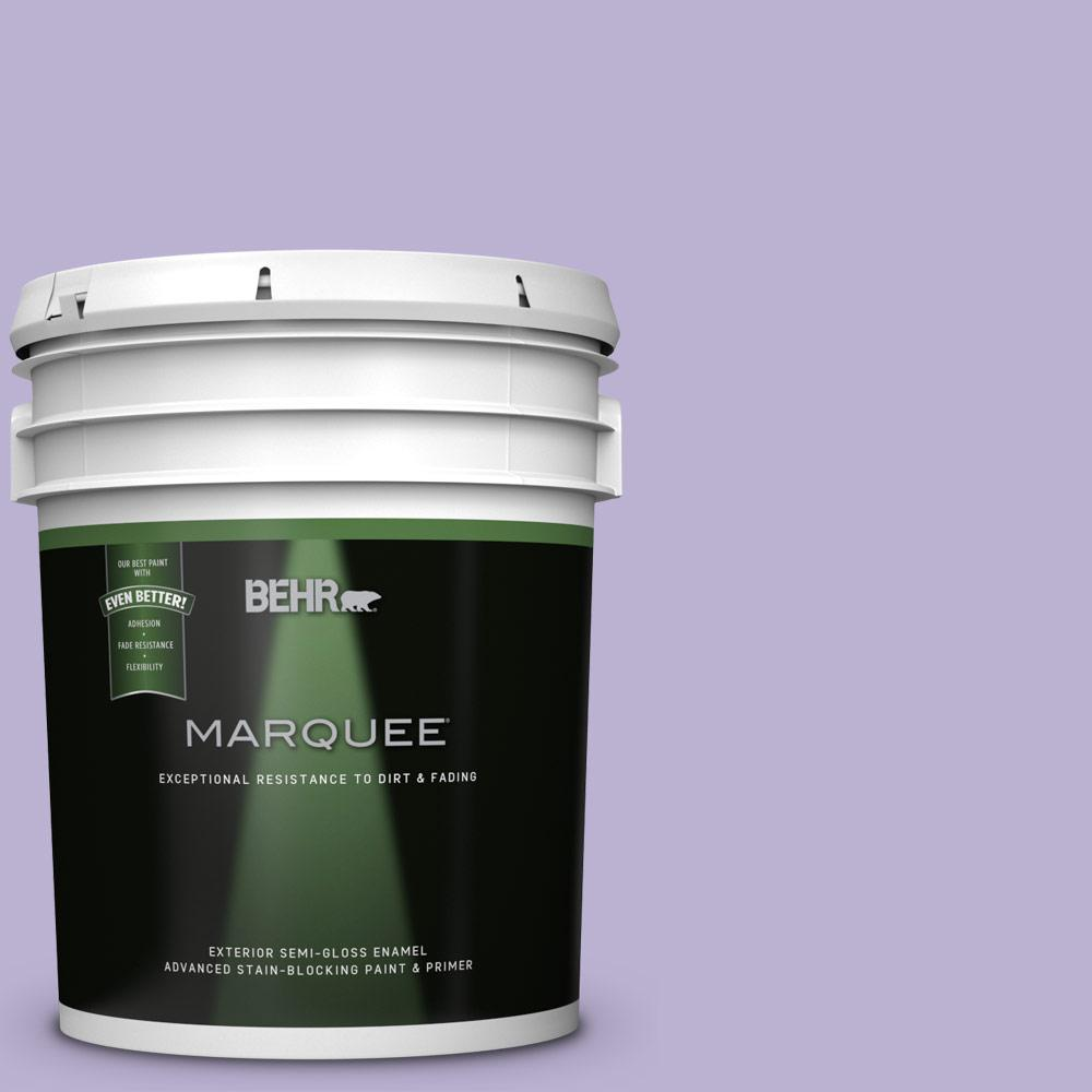 BEHR 5-gal. #M560-3 Grape Hyacinth Semi-Gloss Enamel Exte...