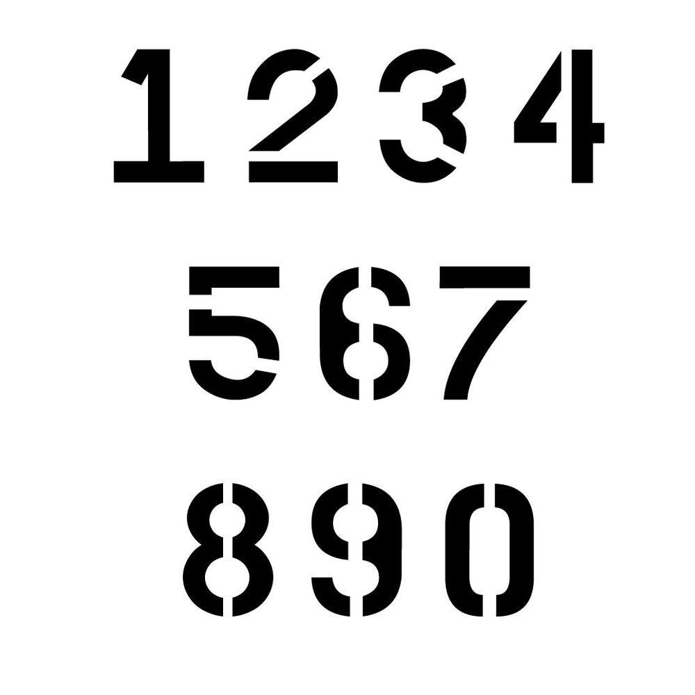 18 in. Parking Lot Number Set