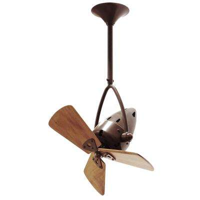Jarold Direcional 16 in. Indoor/Outdoor Bronzette Ceiling Fan with Wall Control