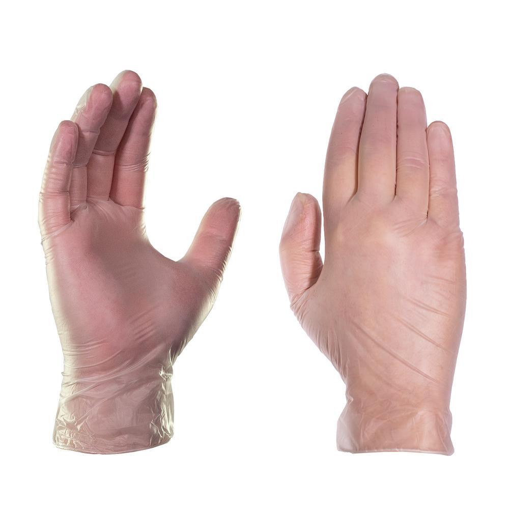 latex free 500 Pcs Disposabl Pink Gloves Vinyl Small Gloves Lightly Powdered