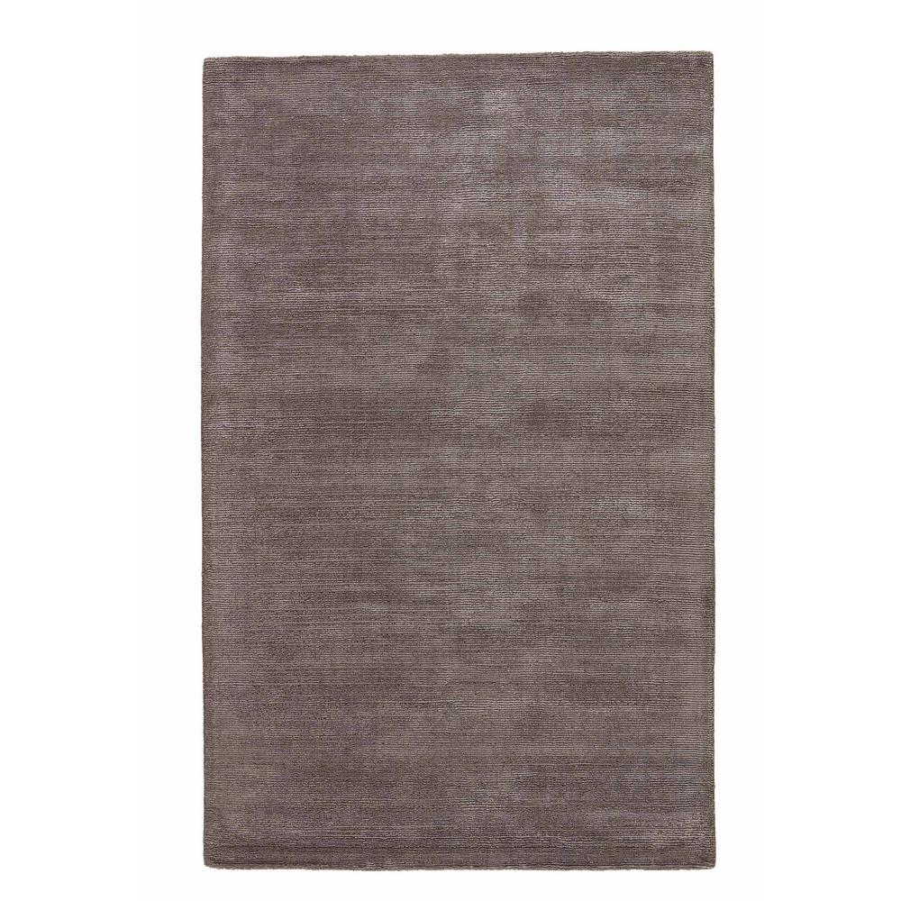 Solids/Handloom Dark Gull Gray 4 ft. x 6 ft. Solid Area Rug