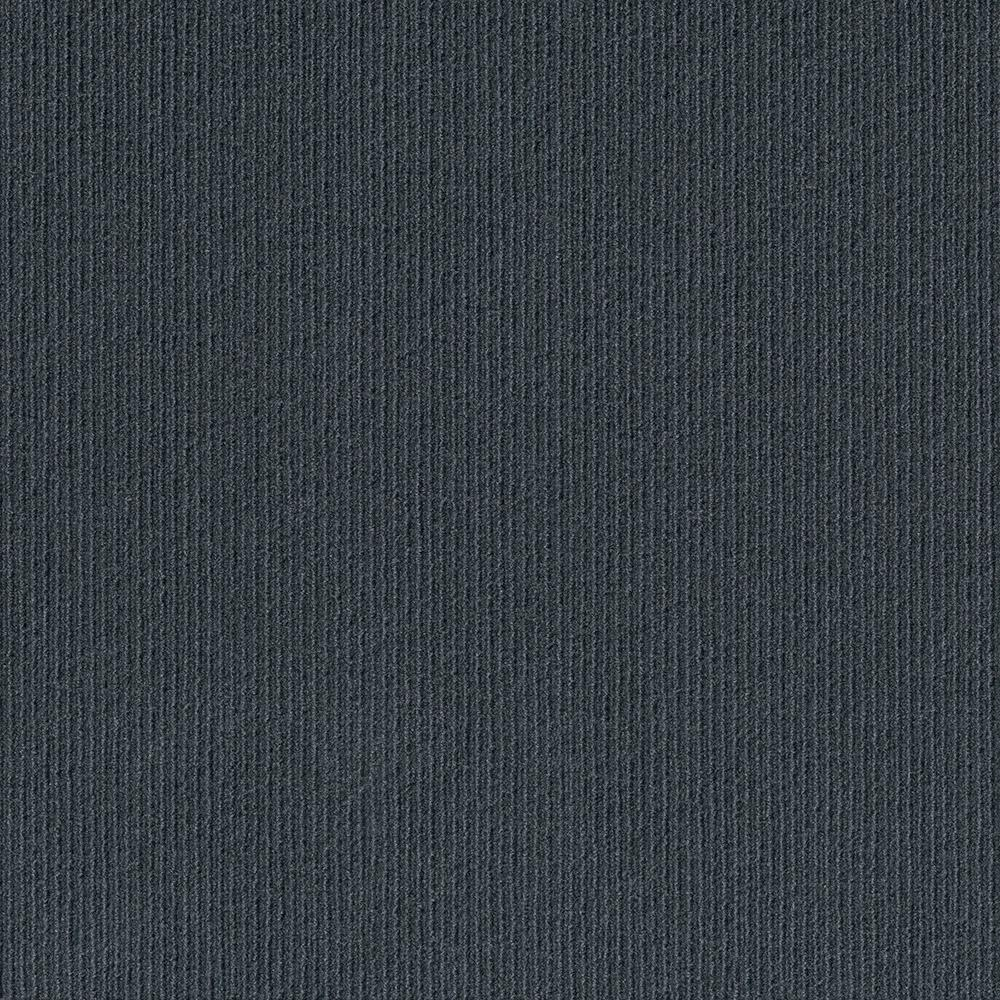 Foss Premium Self-Stick Willingham Charcoal Pattern 18 in. x 18 in. Carpet Tile (16 Tiles/Case)