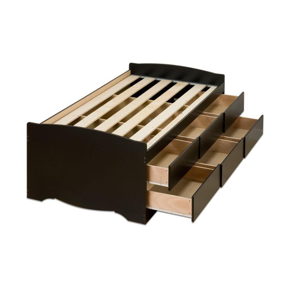 Sonoma Twin Wood Storage Bed