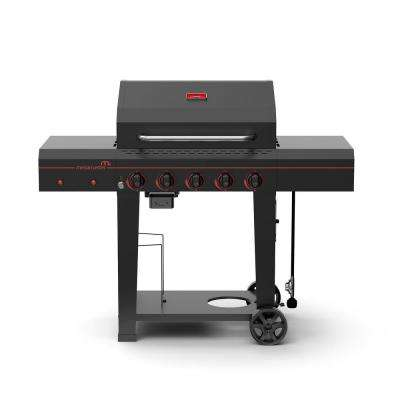 5-Burner Propane Gas Grill in Black