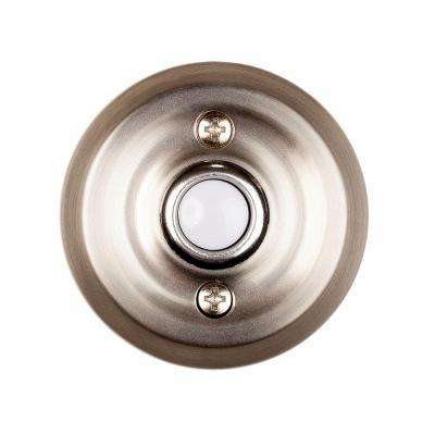 Wired Lighted Door Bell Push Button, Brushed Nickel
