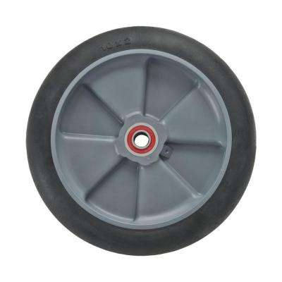 8 in. x 2 in. Hand Truck Wheel Balloon Cushion Rubber with Sealed Semi-Precision Bearings