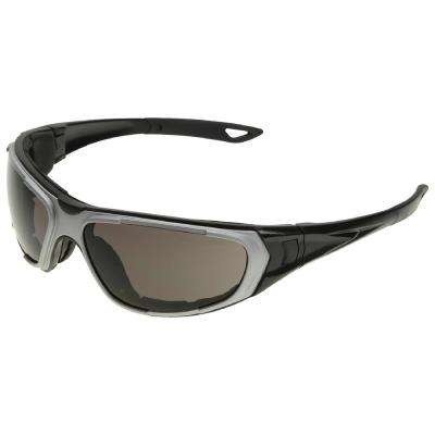 NT2 Eye Protection with Notched Foam Lining, Silver Frame/Gray Anti-Fog Lens