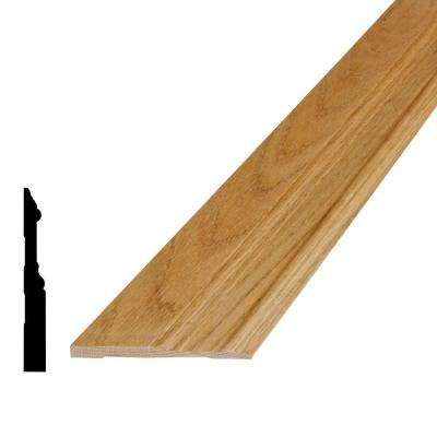 5/8 in. x 5-1/4 in. x 96 in. Oak Base Moulding