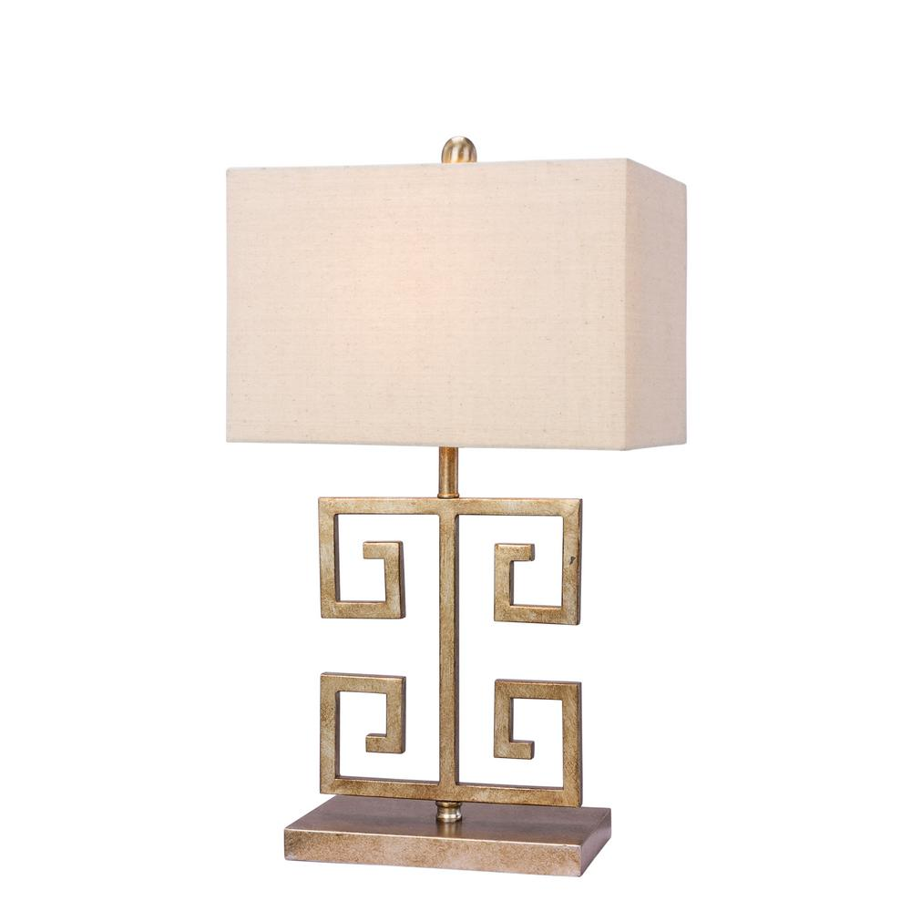 Fangio Lighting 22 5 In Antique Gold Metal Table Lamp W 1549 The