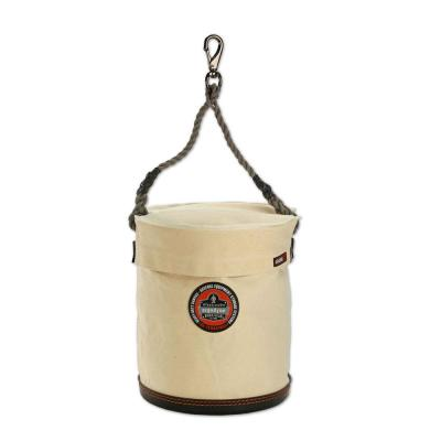 Arsenal 12.5 in. Tool Bucket with Swivel Clip and Safety Top with White Canvas