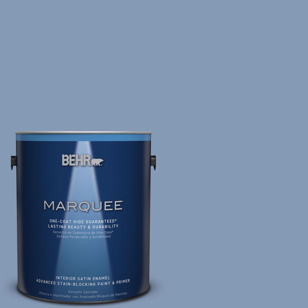 BEHR MARQUEE 1 gal. #MQ5-51 Mystery One-Coat Hide Satin Enamel Interior Paint